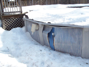 above ground pool and residential recycling